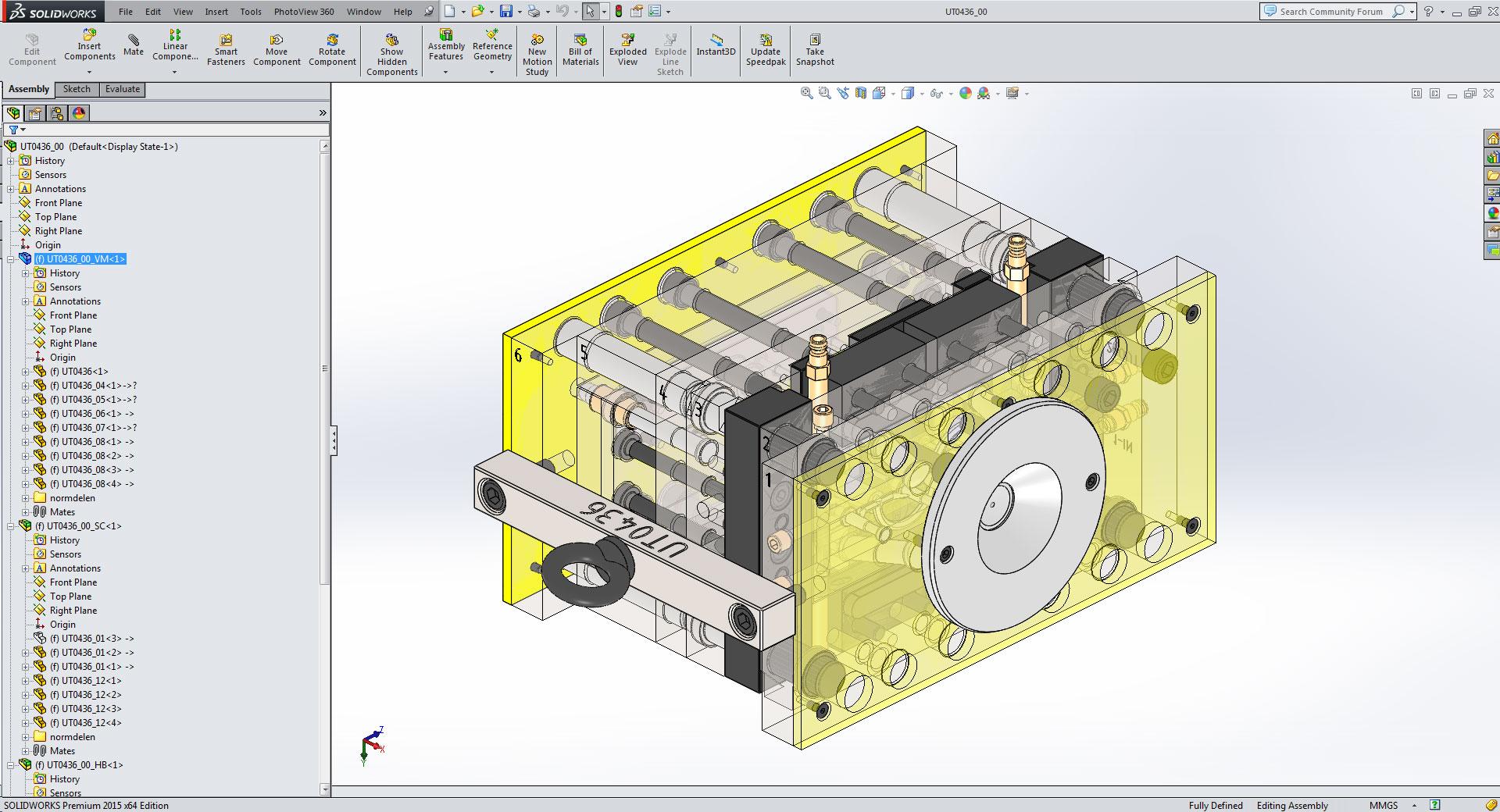 CAD ontwerp van een matrijs